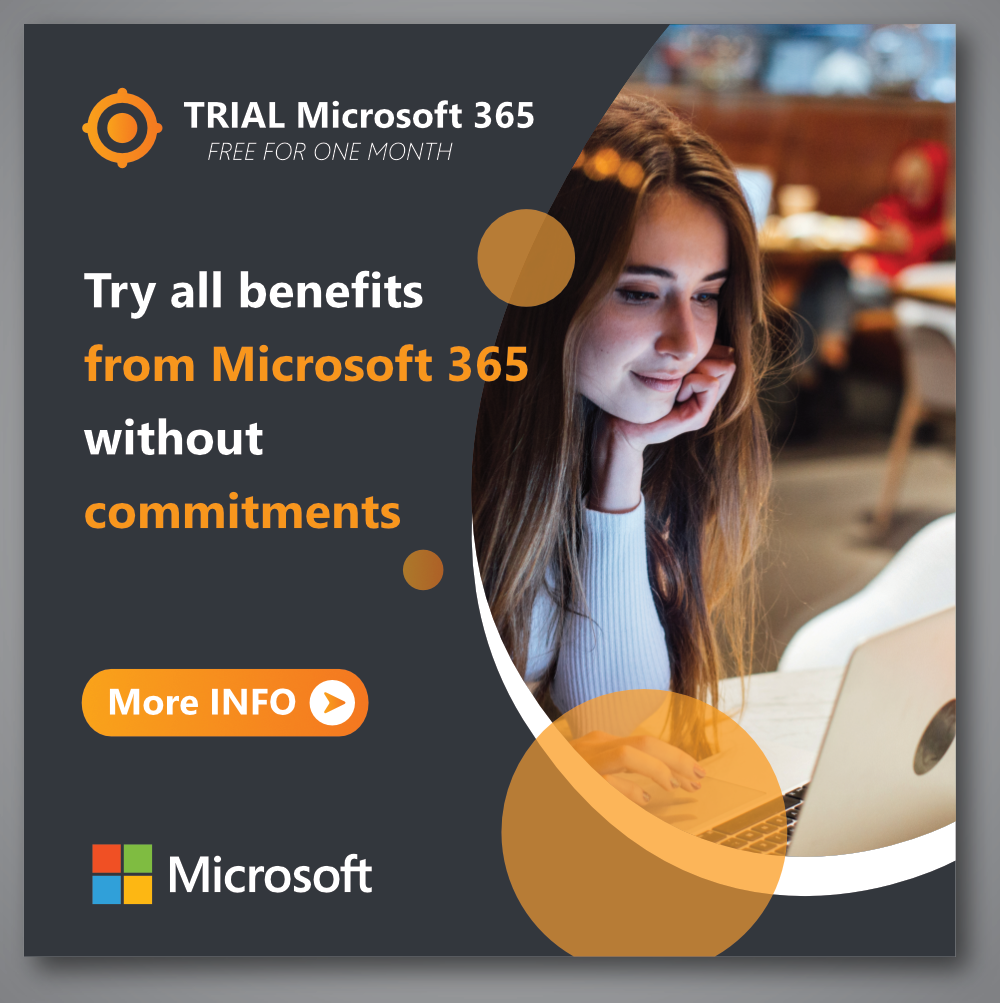 Try all benefits from Microsoft 365 without commitment